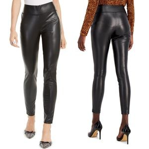 INC Faux Leather Leggings Plus Size 16 Black